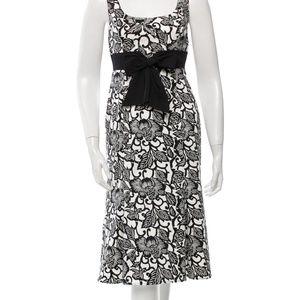 NWOT David Meister B&W Floral Cocktail Dress